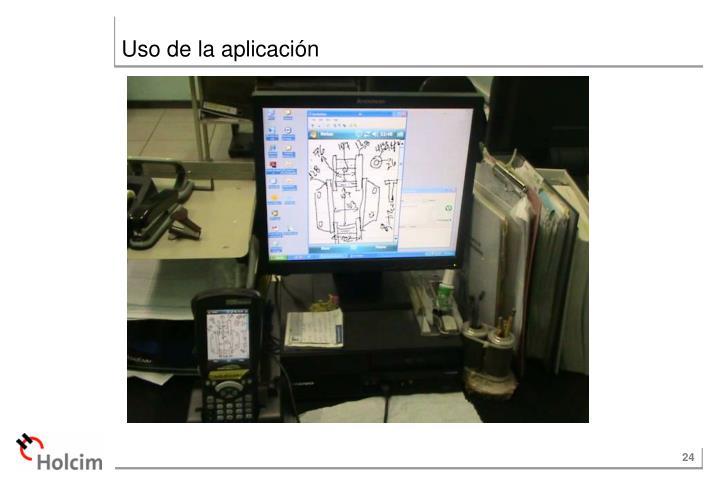 Uso de la aplicación