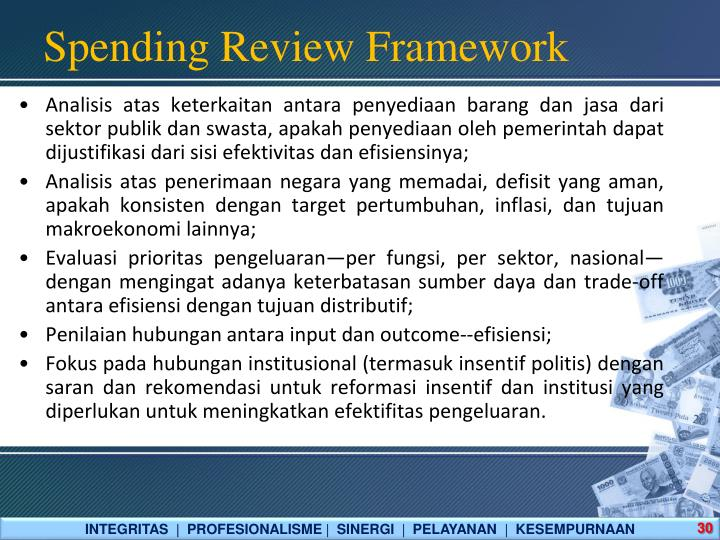 Spending Review Framework