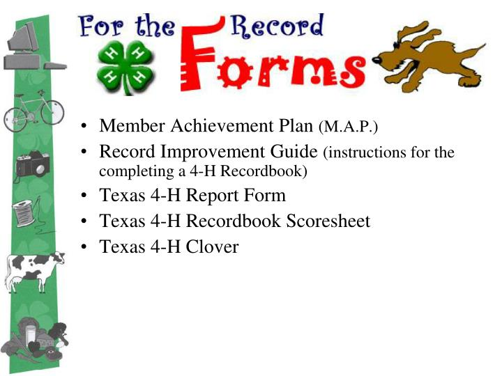 For the record forms