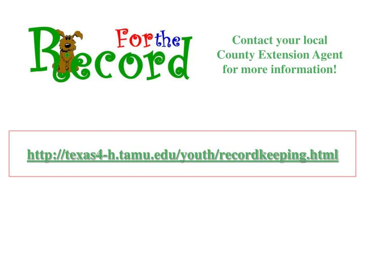 http://texas4-h.tamu.edu/youth/recordkeeping.html