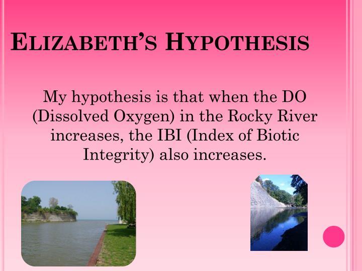 Elizabeth's Hypothesis
