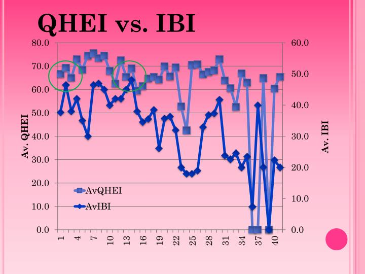 QHEI vs. IBI