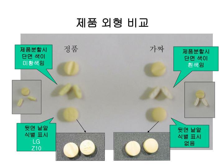 제품 외형 비교
