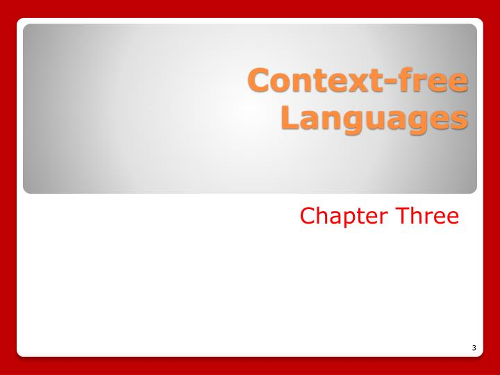 Context free languages