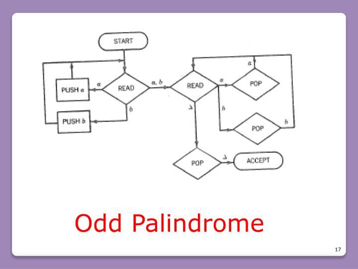 Odd Palindrome