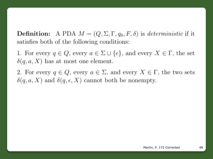 Martin, P. 172 Corrected