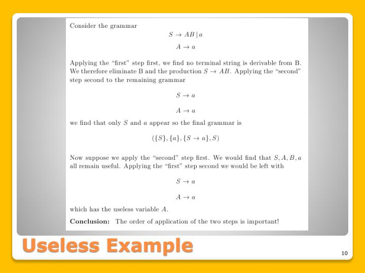 Useless Example