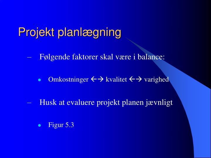 Projekt planlægning