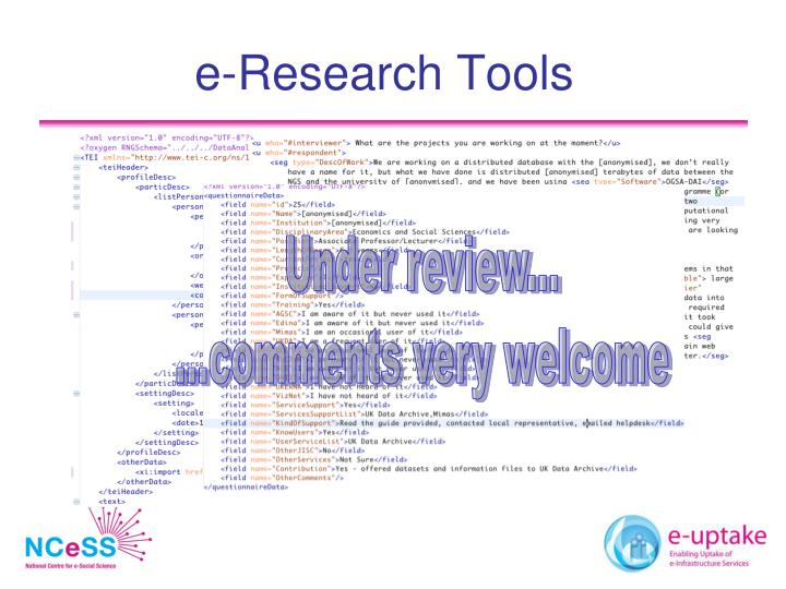 e-Research Tools