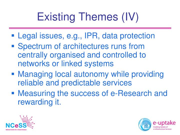 Existing Themes (IV)