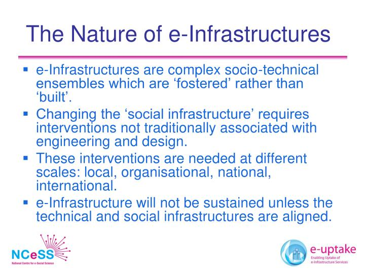 The Nature of e-Infrastructures