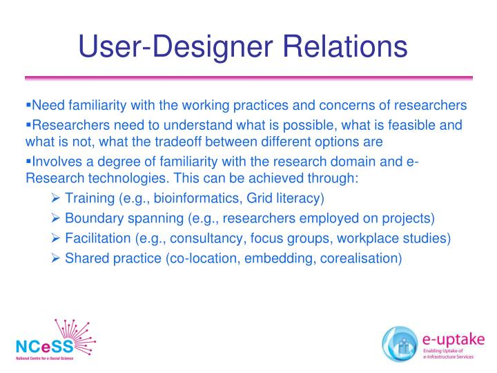 User-Designer Relations