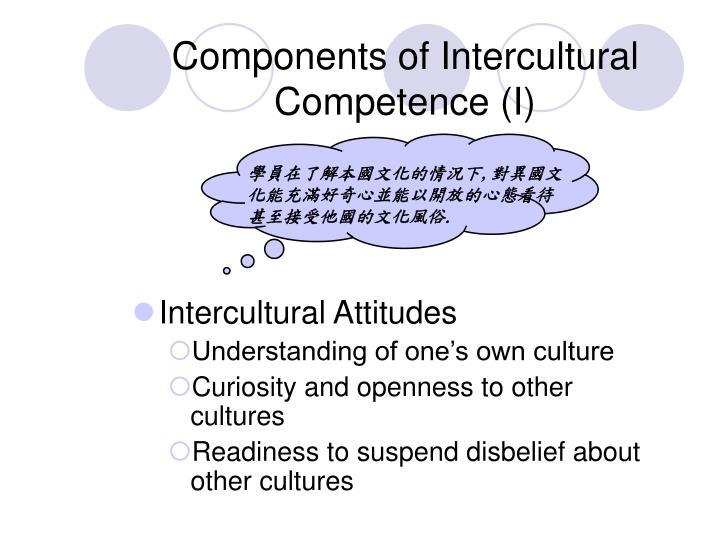 學員在了解本國文化的情況下,對異國文化能充滿好奇心並能以開放的心態看待甚至接受他國的文化風俗.