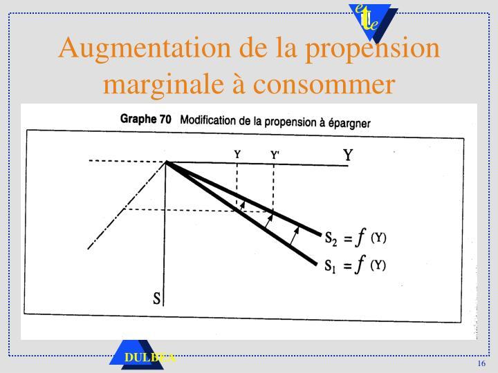 Augmentation de la propension marginale à consommer