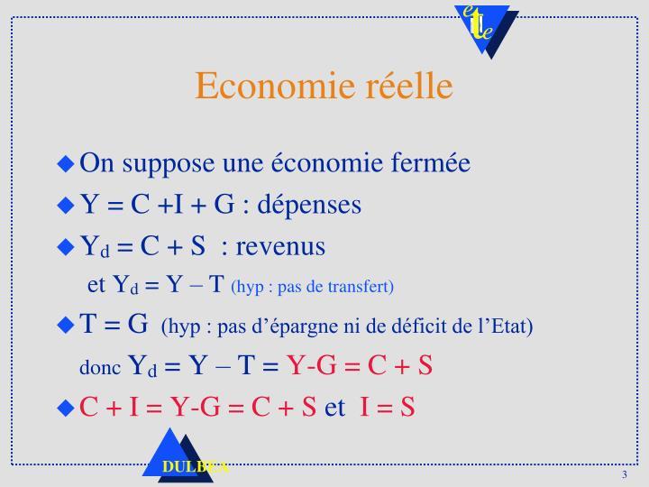 Economie réelle
