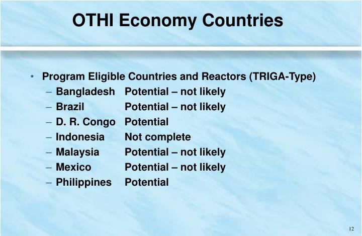 OTHI Economy Countries