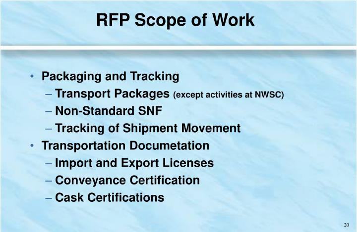 RFP Scope of Work