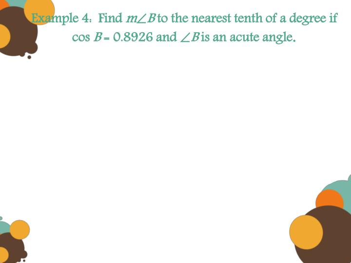 Example 4:  Find