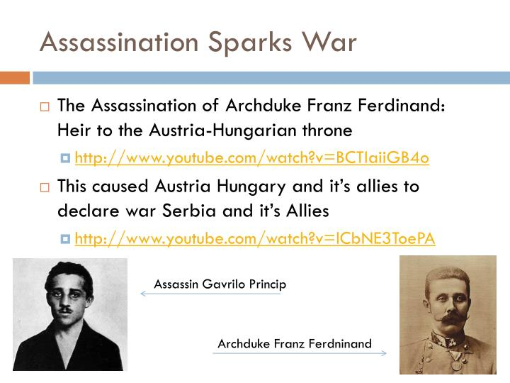 Assassination Sparks War