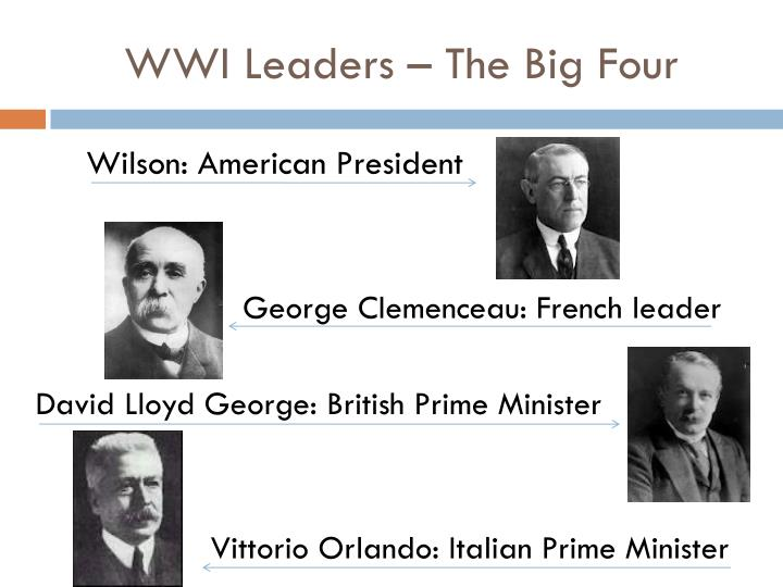 WWI Leaders – The Big Four