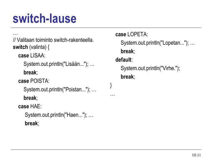 switch-lause
