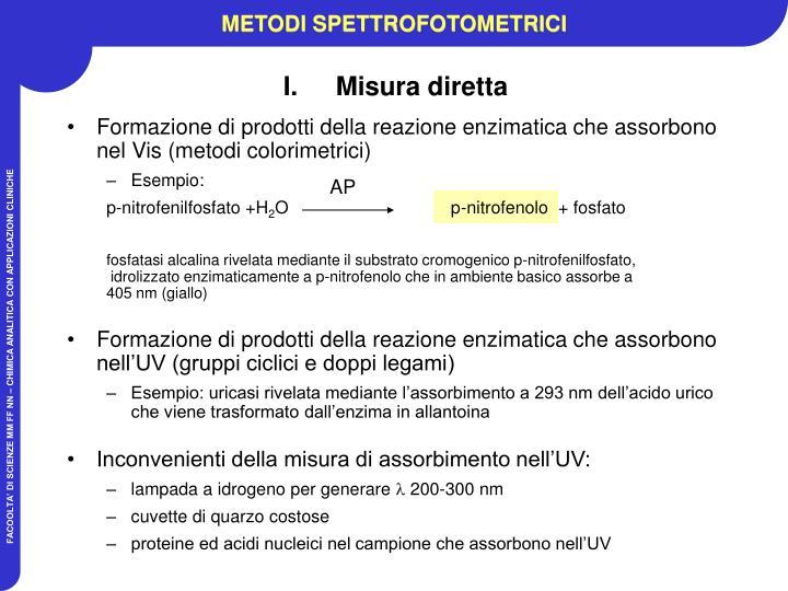 METODI SPETTROFOTOMETRICI