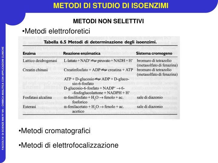 METODI DI STUDIO DI ISOENZIMI
