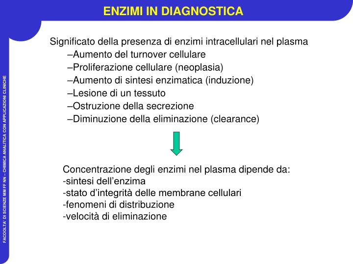 ENZIMI IN DIAGNOSTICA