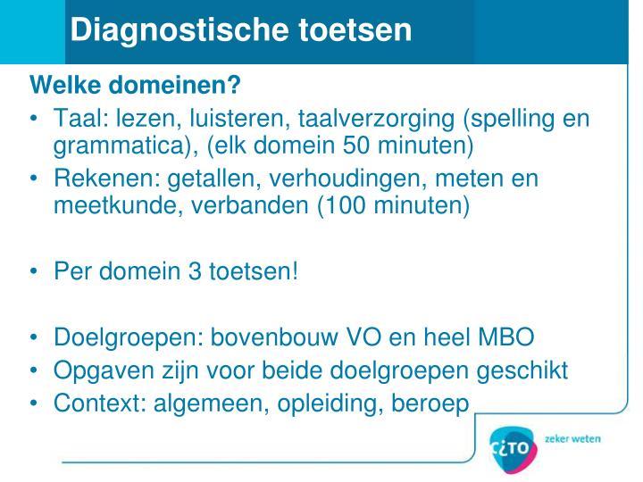 Diagnostische toetsen