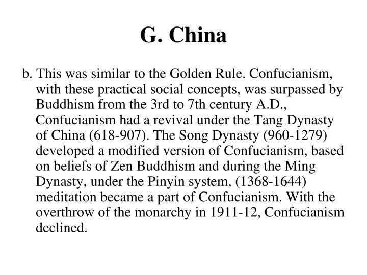 G. China