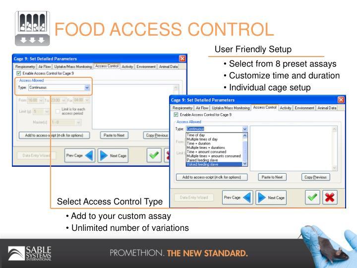FOOD ACCESS CONTROL