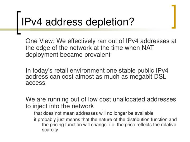 IPv4 address depletion?