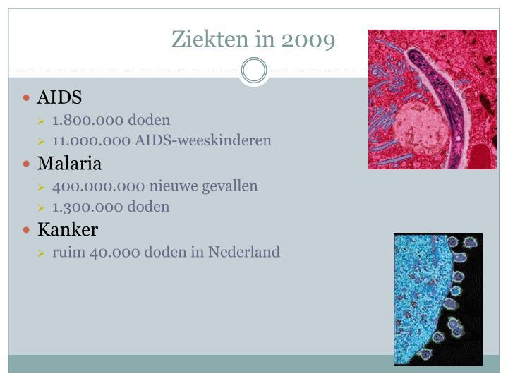 Ziekten in 2009