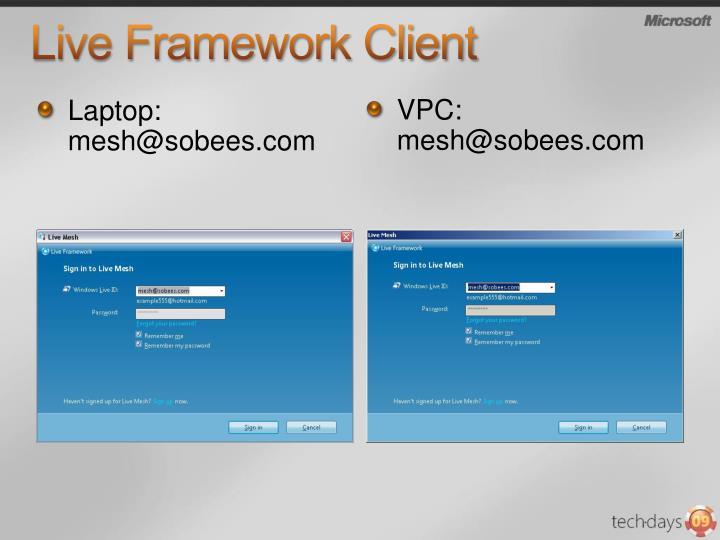 Live Framework Client