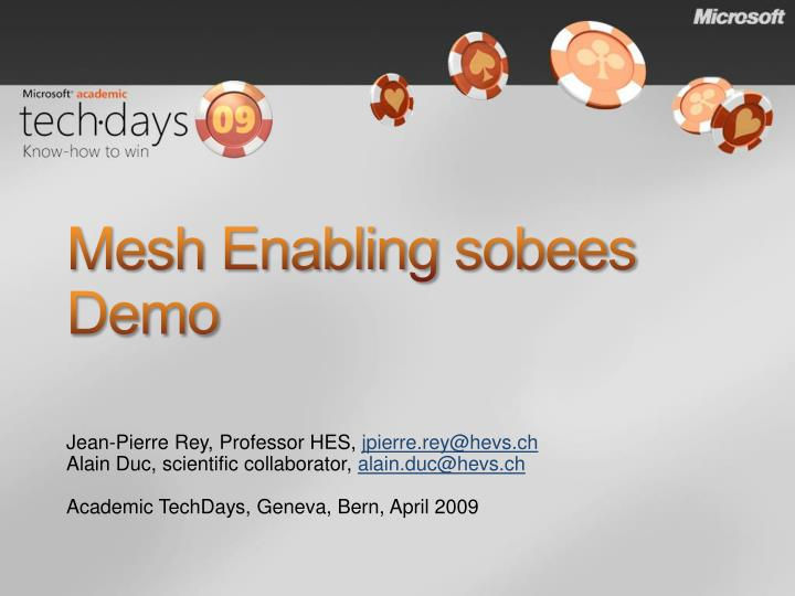 Mesh enabling sobees demo