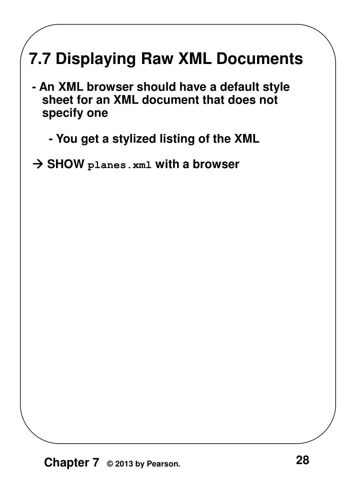 7.7 Displaying Raw XML Documents