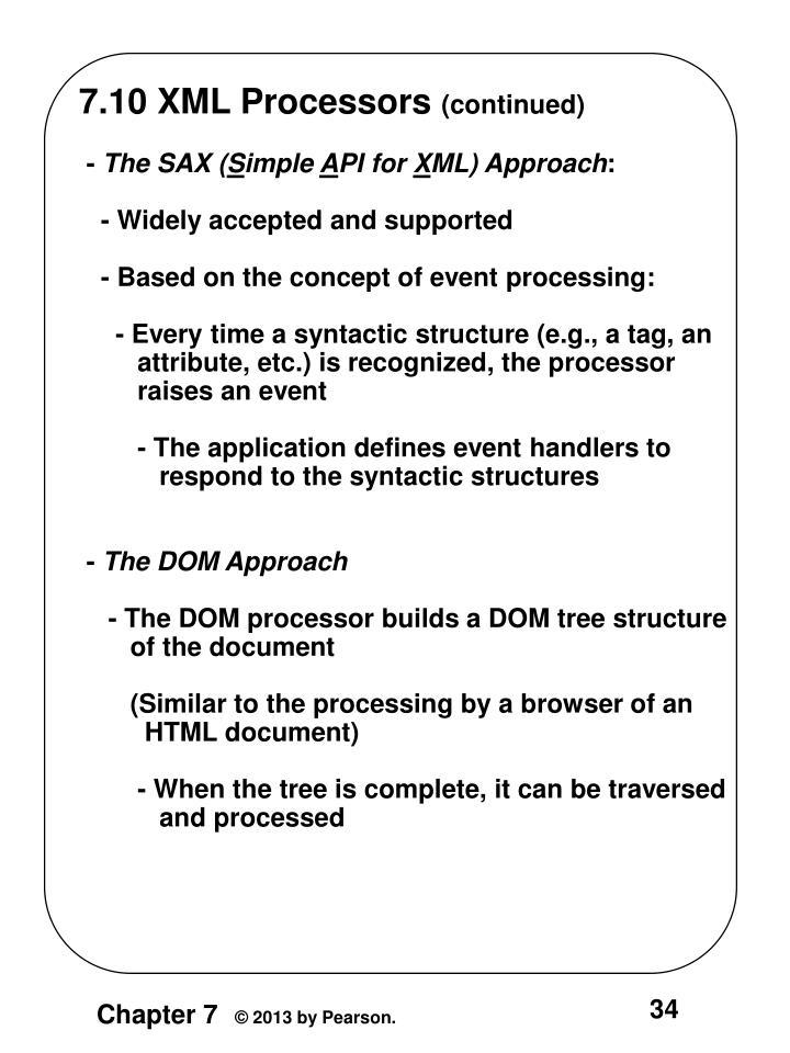 7.10 XML Processors