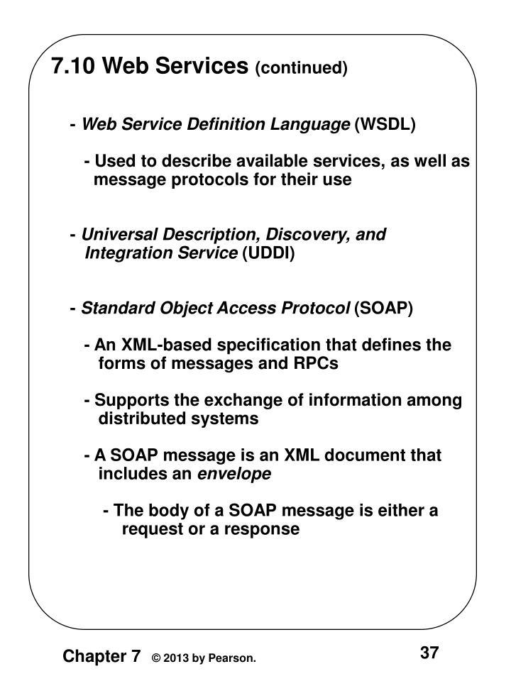 7.10 Web Services