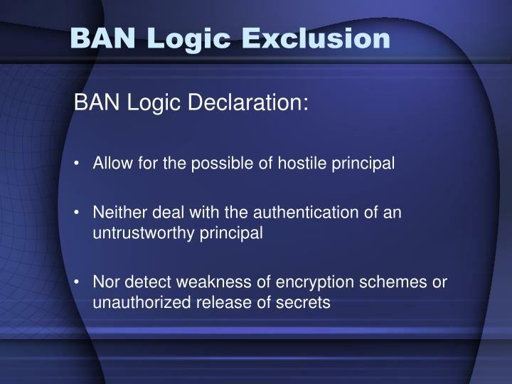 BAN Logic Exclusion