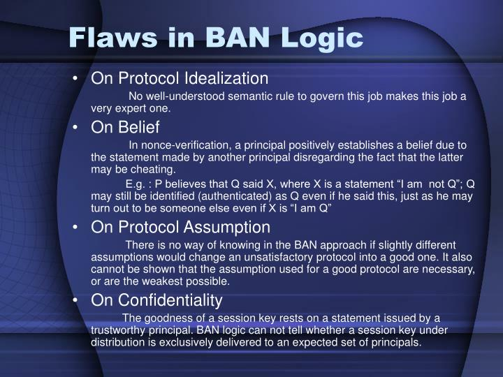 Flaws in BAN Logic