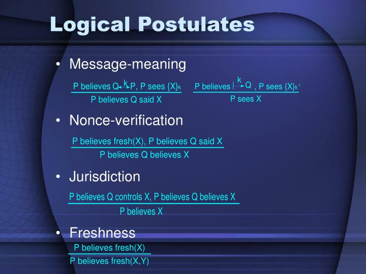 Logical Postulates