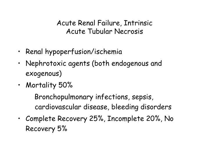Acute Renal Failure, Intrinsic