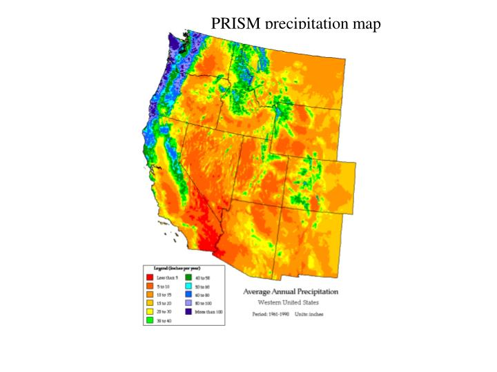PRISM precipitation map