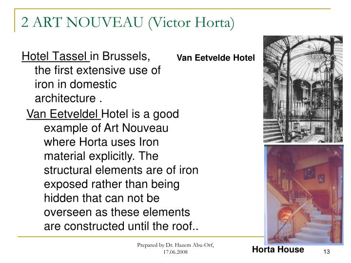 2 ART NOUVEAU (Victor Horta)
