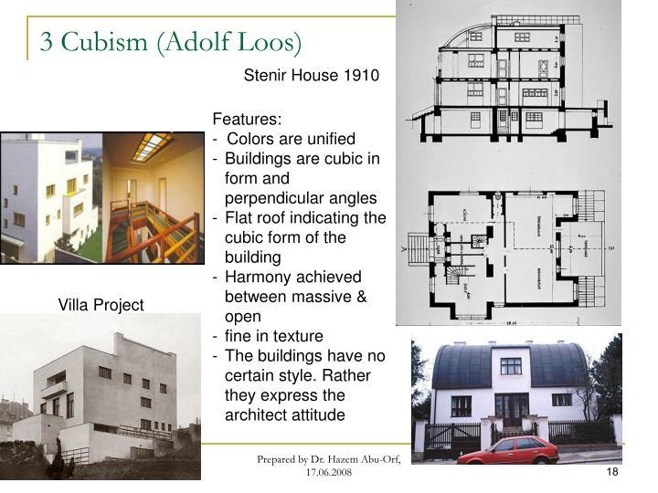 3 Cubism (Adolf Loos)