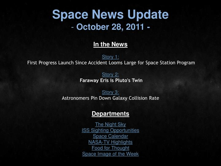 Space News Update