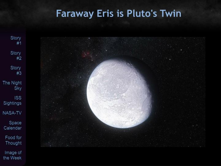 Faraway Eris is Pluto's Twin