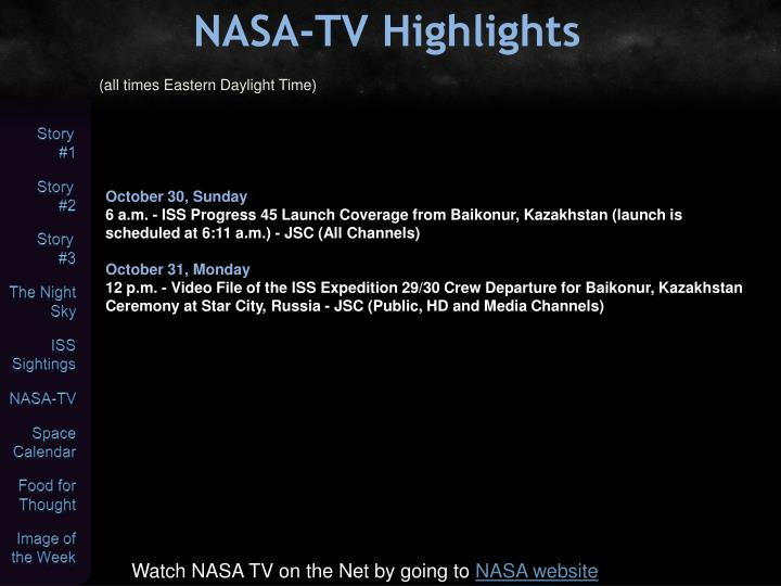 NASA-TV Highlights