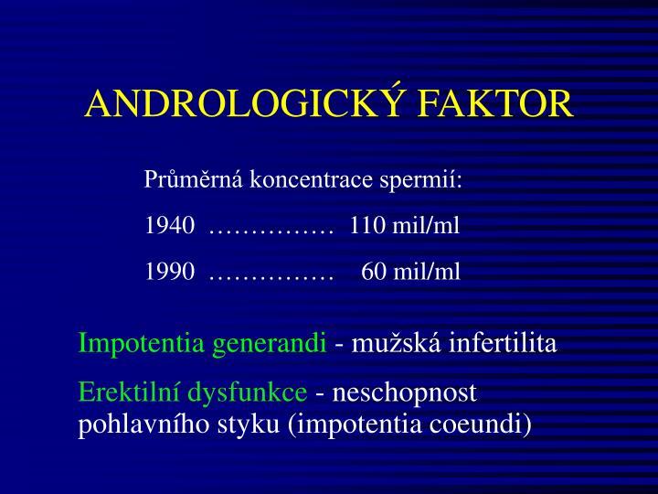 ANDROLOGICKÝ FAKTOR