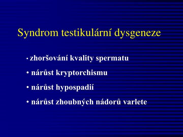 Syndrom testikulární dysgeneze